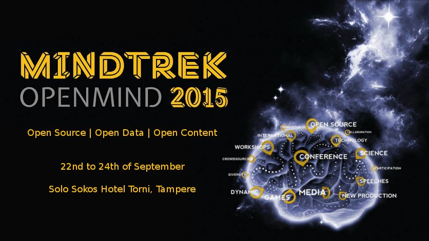Mindtrek Openmind 2015 open data open content open source Tampere