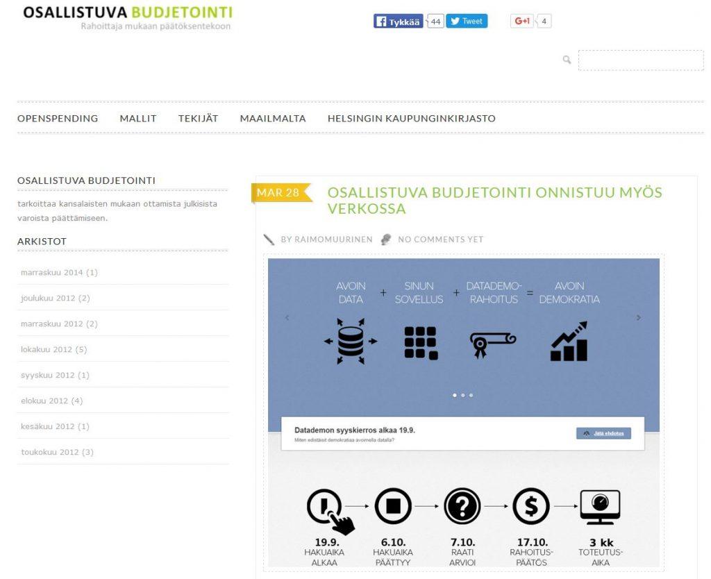 OB-sivusto toimii aiheen tiedon kokoamisalustana.
