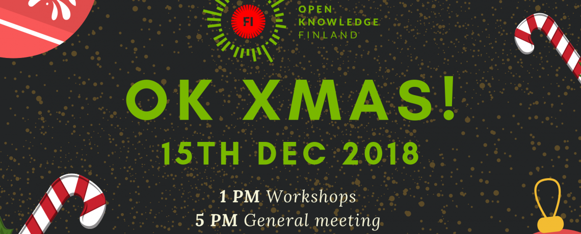Welcome to OK XMAS – workshops, autumn general meeting and party