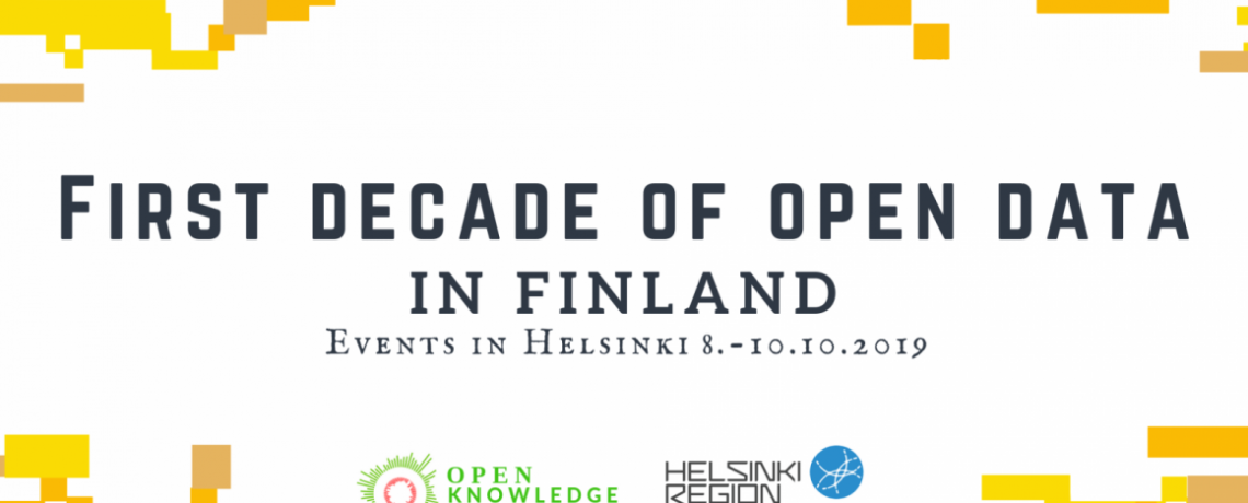 Ensimmäinen avoimen datan vuosikymmen Suomessa -tapahtumat 8.-10.10.